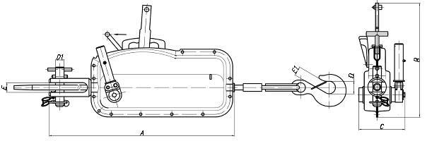 Габаритные размеры МТМ-0,8