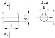 Присоединительные размеры выходных валов редуктора Ц2Н-710