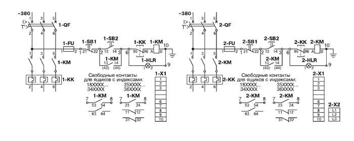 Схема электрическая принципиальная ящика управления Я5114
