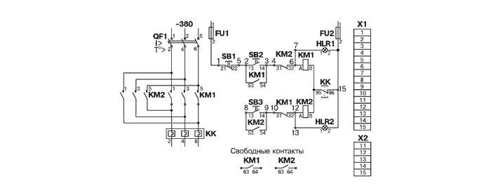 Схема электрическая принципиальная ящика управления Я5412