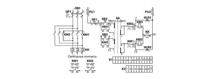 Схема электрическая принципиальная ящика управления Я5413