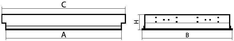 чертеж светильника ЛПО-71 Опал